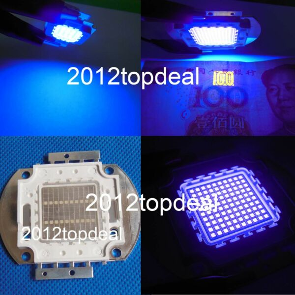 3w 5w 10w 20w 30w 50w 100w UV Ultra Violet High power LED Chip 395nm F Aquarium $9.50