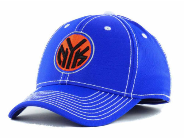 New Authentic Adidas New York Knicks NBA Team Flex Fitted Hat SM/MED L/XL Cap