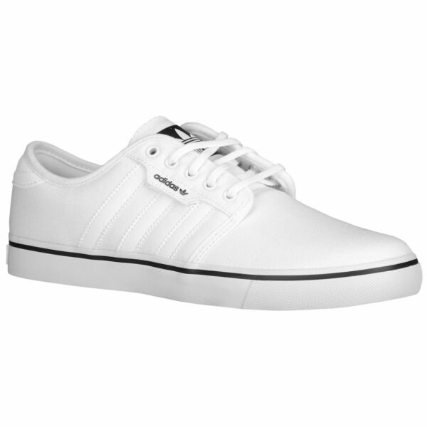 Adidas Seeley Skate Men's Shoes Sneakers White Canvas Casual Trainers C76794 NEW
