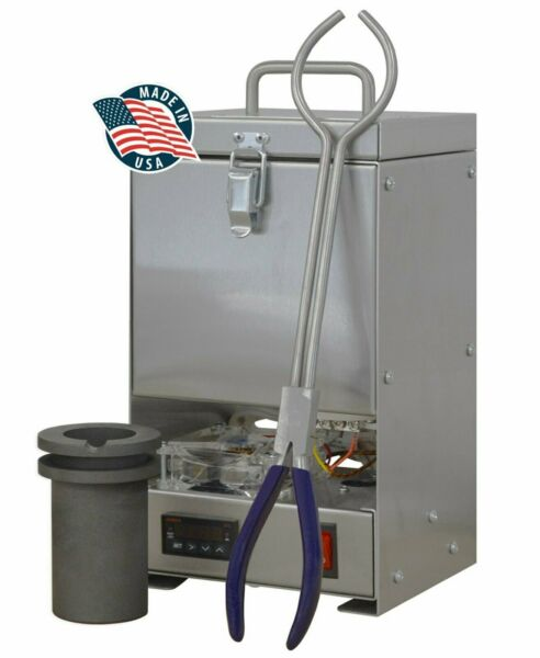60 OZ GOLD QUIKMELT PRO TABLETOP ELECTRIC MELTING FURNACE 2200F SILVER COPPER