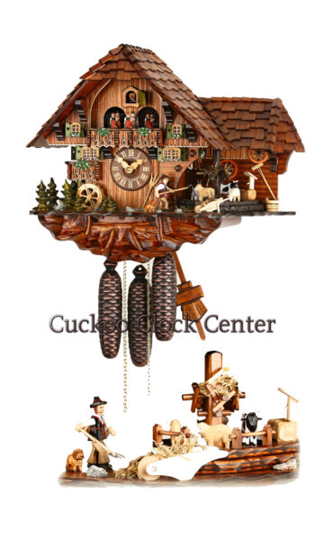 Cuckoo Clock 8-day-movement Chalet-Style 39 x 45 cm  Black Forest by Hubert Herr
