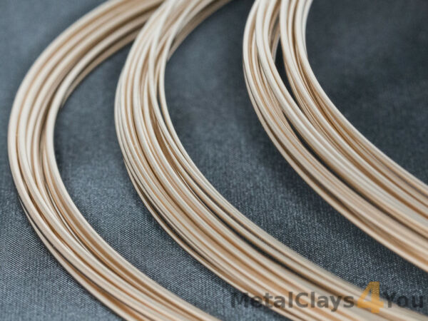 Yellow Gold-Filled Round Wire 1420 (Half-hard) 0.4mm to 2.59mm