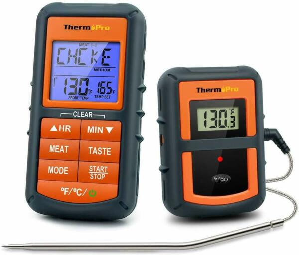 Remote Cooking Thermometer Digital BBQ Grill Oven Meat Wireless Smoker