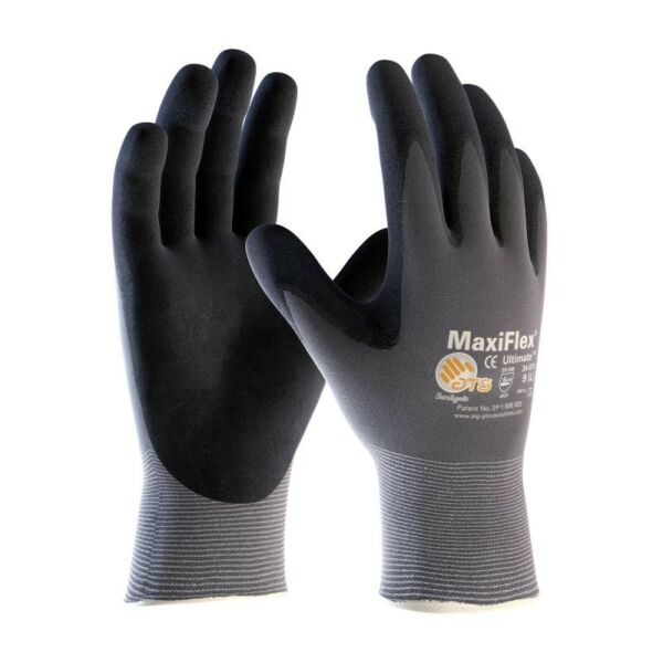 34-874 MaxiFlex Ultimate Nitrile MicroFoam Coated Gloves Size- XS-3XL Free Ship