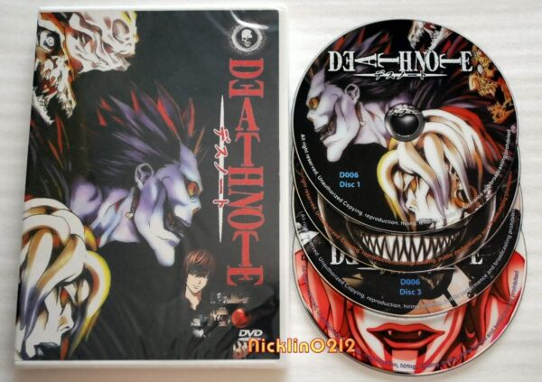 DEATH NOTE Complete English Anime DVD Collection TV Series Ep 1 37 Box Set USA