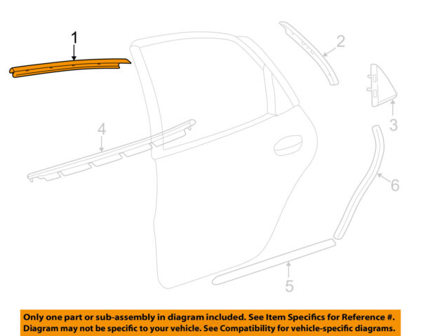 FORD OEM Exterior-Rear-Reveal Molding Left YF4Z54255A61AA