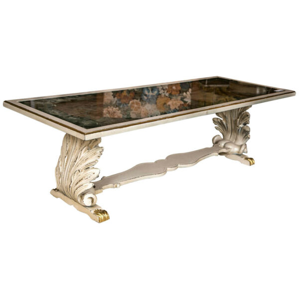 Shell Form Verne Eglomise Top Coffee Low Table attributed to Jansen  101-5430