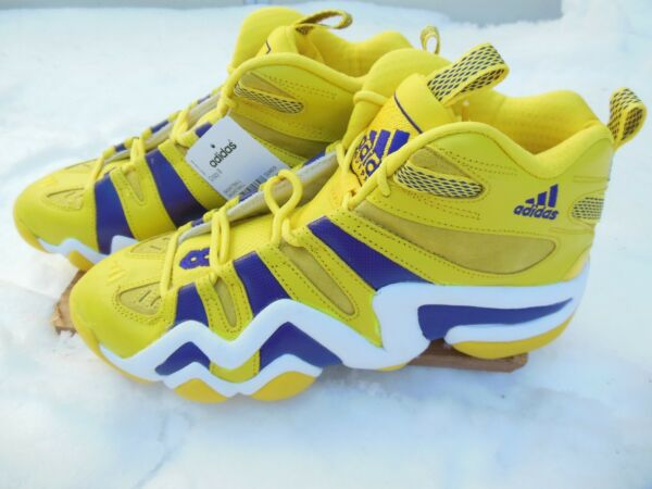 Adidas Crazy 8 LA LAKERS RARE DEADSTOCK KOBE yellow basketball sneaker trainer