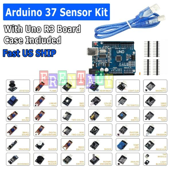 Super Value Ultimate 37 in 1 Sensor Modules Kit for Arduino & MCU Education User