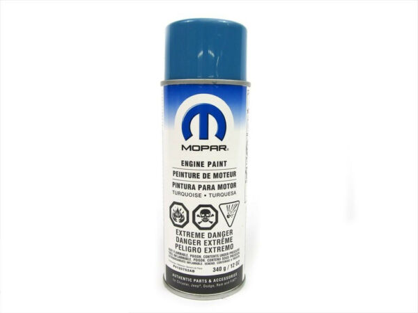 MOPAR PERFORMANCE ENGINE PAINT TURQUOISE OEM NEW GENUINE # P4120752AB
