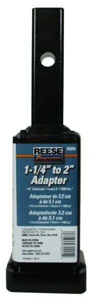 1 1 4quot; to 2quot; Receiver Adapter 6quot; Long Reese Towpower 7020500 70205 $17.95