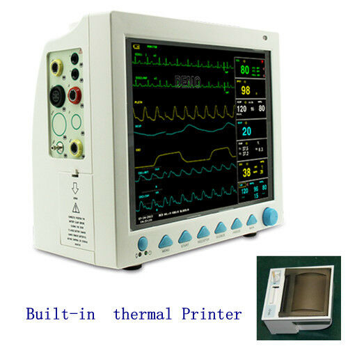 Contec CMS8000 Vital Signs ICU Patient Monitor ECG NIBP SPO2 Temp Resp + Printer