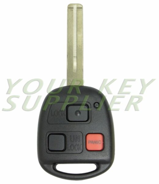 New Replacement Keyless Entry Remote Key for GX470 LX470 HYQ1512V - Short Blade