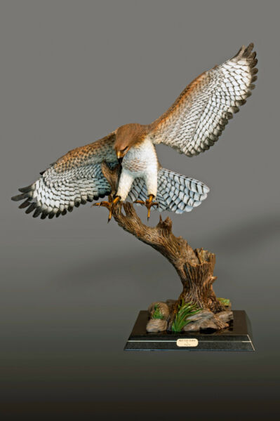 BRONZE Red-tailed Hawk Amazing Detail!! Limited Edition SCULPTURE by BARRY STEIN