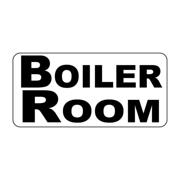 Boiler Room Black Retro Vintage Style Metal Sign - 8 In X 12 In With Holes