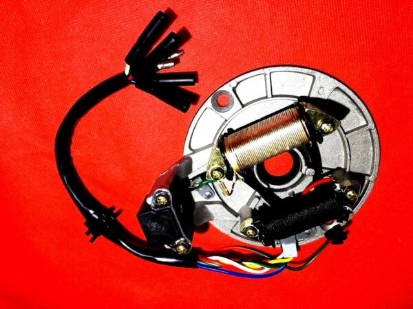 MAGNETO STATOR PLATE AC 2 POLE COIL 6 WIRE CHINESE DIRT PIT BIKE ATV QUAD NEW