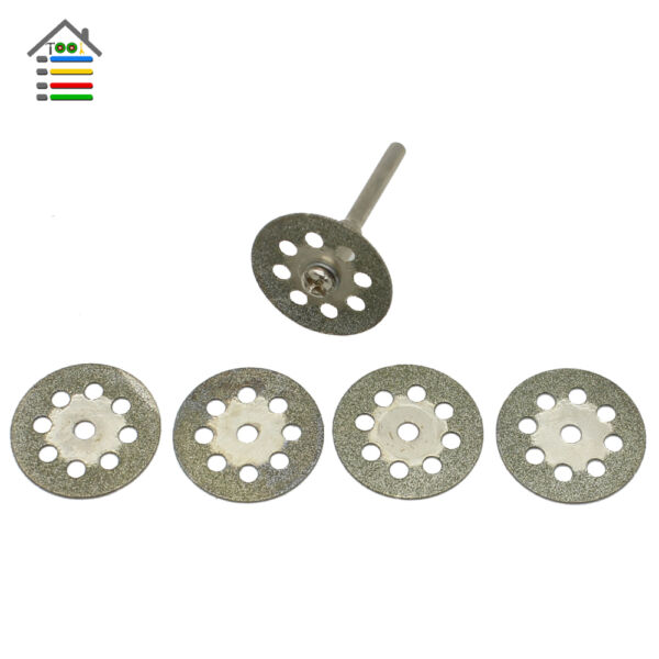 5pc 22mm Diamond Cutting Disc Cut Off Wheel 3mm Mandrel fit Dremel Rotary Tools