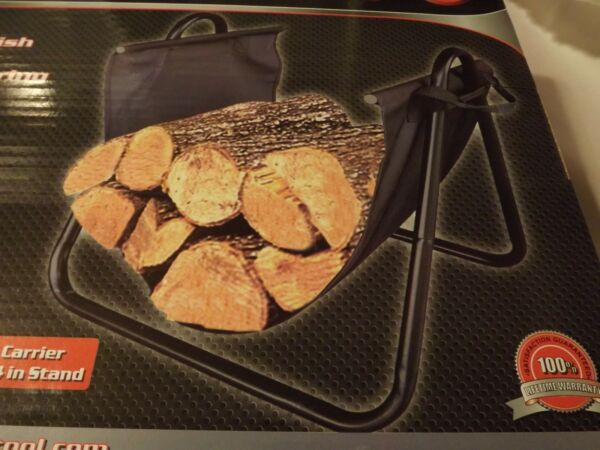 Log Carrier and Stand_Wood Stove_Fireplace_Fire Pit_Rack & Carrier In One