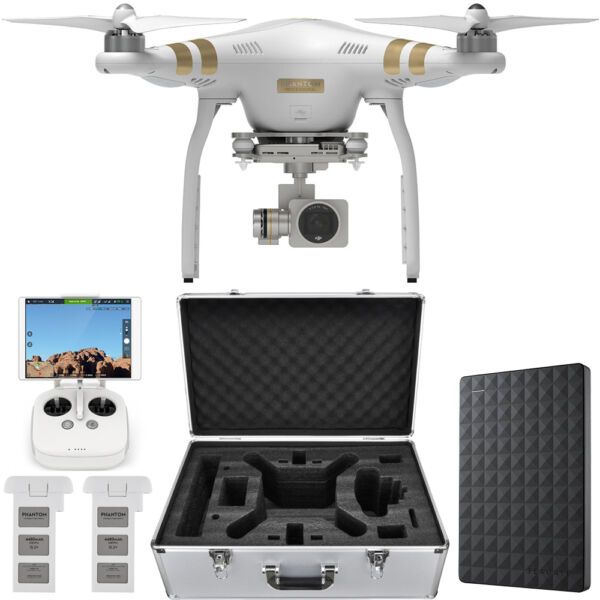 DJI Phantom 3 Professional Quadcopter Drone 4K Camera, Gimbal + 1.5TB Hard Drive