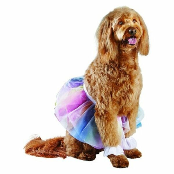 New Three Piece Dog Rainbow Tutu Costume Size L XL 100 pounds $9.88