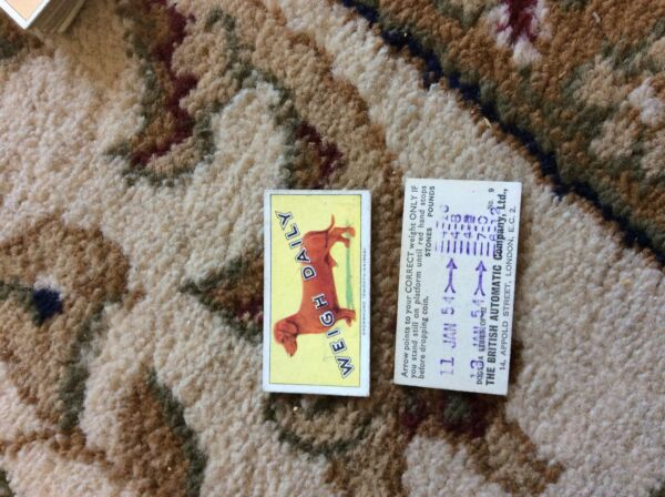 BRITISH AUTOMATIC DOGS 1ST SERIES WITH WEIGH DAILY # 09 dachsund GBP 1.75