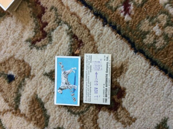 BRITISH AUTOMATIC DOGS 1ST SERIES WITH WEIGH DAILY # 10 dalmatian GBP 1.75