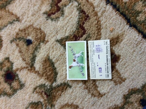 BRITISH AUTOMATIC DOGS 1ST SERIES WITH WEIGH DAILY # 21 pointer GBP 1.75