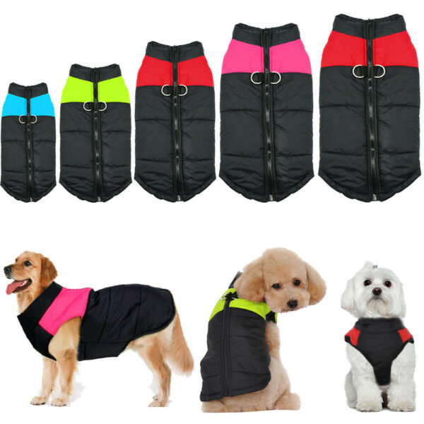 Winter Dog Clothes Small Large Big Dogs Waterproof Pet Coats Vest Jacket 10 Size $7.99