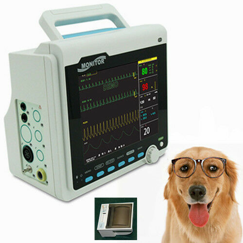 CE Contec CMS6000 5 Parameters VET Patient Monitor for Animals w Free Printer