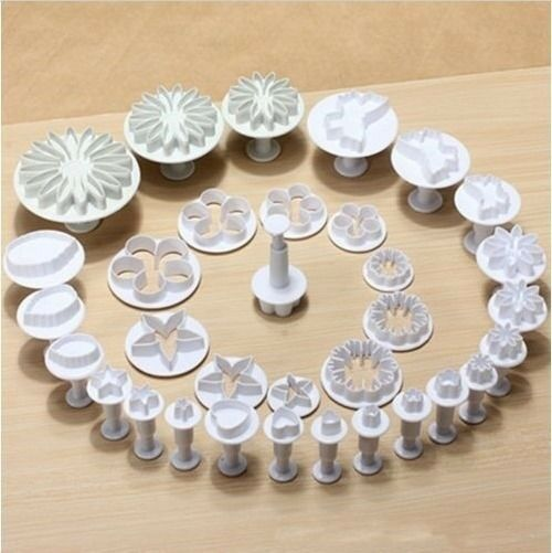 33 pcs Sugarcraft Cake Decorating Fondant Plunger Cutters Tools Mold Cookies USA