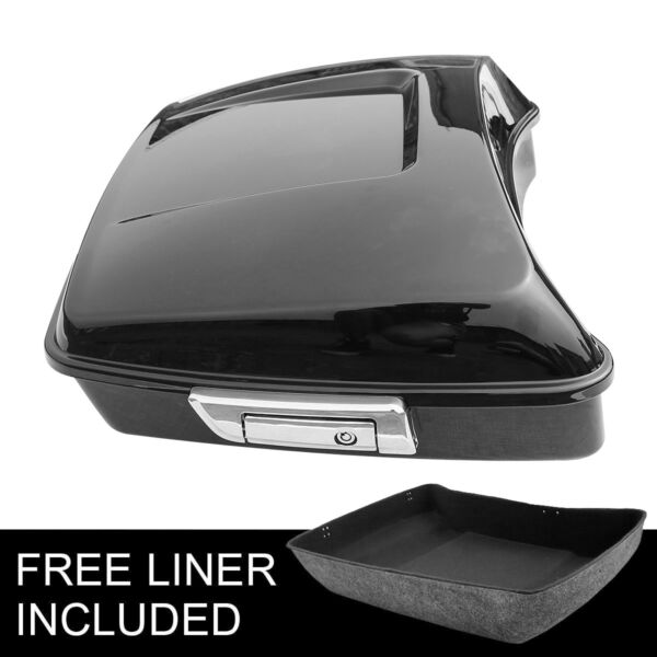 Black Chopped Tour Pak Pack Trunk For Harley Touring Electra Road Glide 2014 20 $168.85