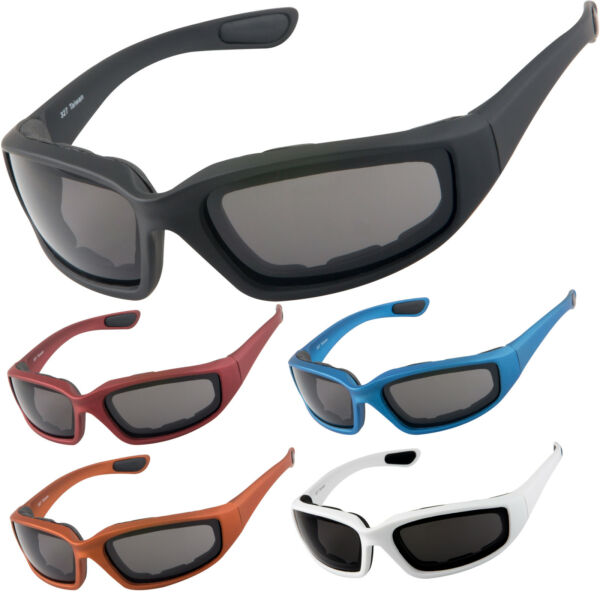 WYND Blocker POLARIZED Sunglasses Wind Block Sports & Motorcycle Riding Glasses
