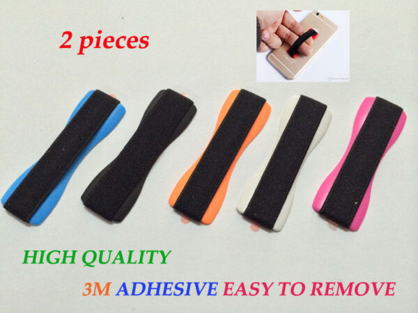 2 Universal Elastic Tablet Cell Phone Finger Grip Holder Strap Retail Package $5.75