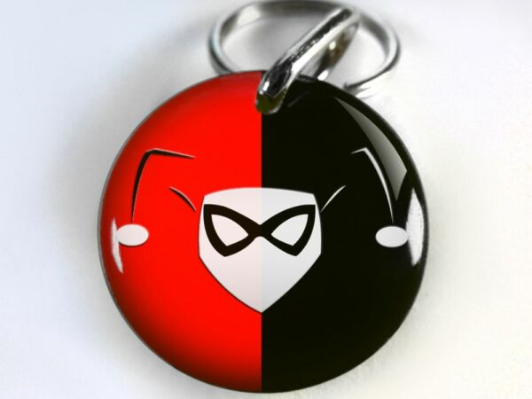 Harley Quinn supervillian comic CUSTOM Pet Dog Cat ID Tag personalized $15.00