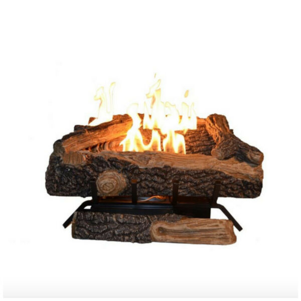 Emberglow Oakwood Vent Free Liquid Propane Gas Fireplace Log Set Heater Logs New