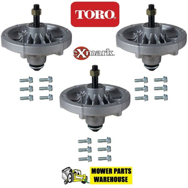 (3) NEW BLADE DECK SPINDLES TORO EXMARK 116-5712 109-8744 QUEST 48
