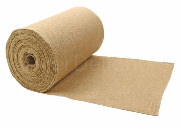 14quot; Premium Burlap Roll 50 Yards Finished Edges Natural Jute Burlap Fabric