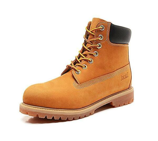 Water Resistant Shoe Winter Snow Work Boots Mens Genuine Leather 6'' Lace Up 061