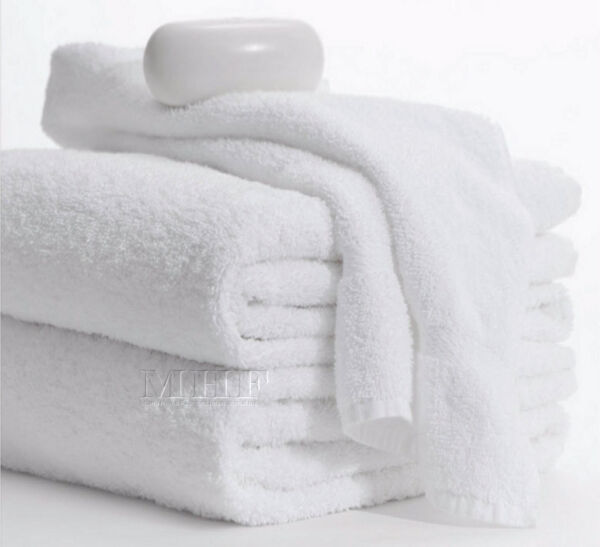 Bath Towels 12 Pack 22x44 inches White 6.0 Lbs 100% Cotton