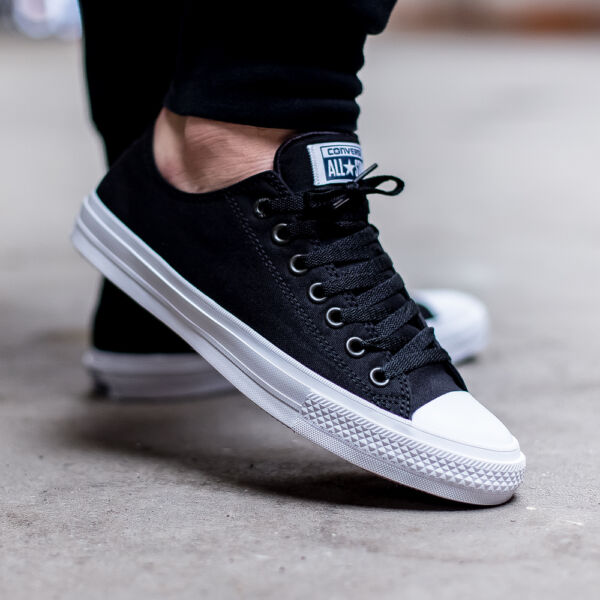 Converse Chuck Taylor All Star II 2 Lunarlon Black Low Shoes 150149C DISCONTIUED