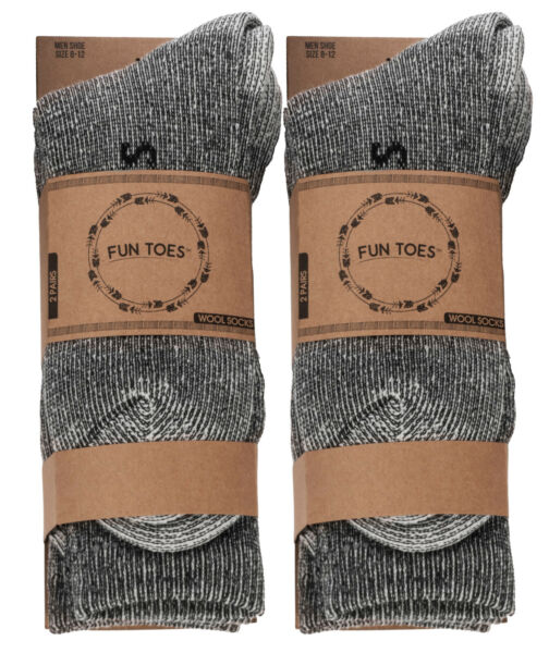 Men heavy duty PRIME Merino Wool Socks 4 Pack for winter ski & trailing