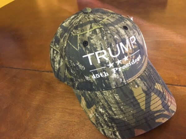 TRUMP 45TH PRESIDENT EMBROIDERED BASEBALL CAP REPUBLICAN MOSSY OAK