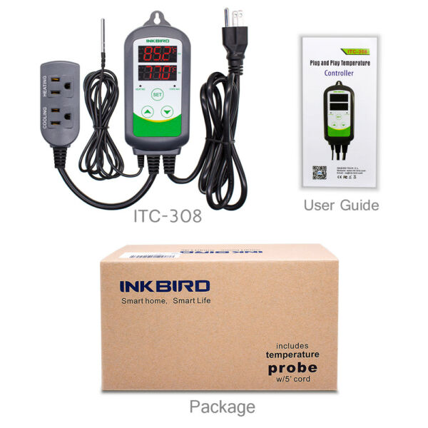 INKBIRD ITC308 Temperature Switch Controller Thermostat fan greenhouse home brew