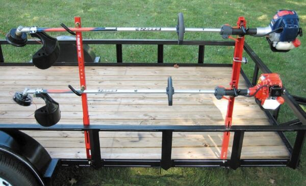 JUNGLE JIM#x27;S 2 TRIMMER TRAILER RACK SYSTEM HOLD 2 TRIMMERS 2TR $158.95