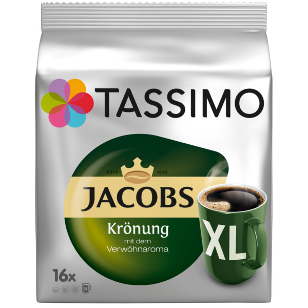 TASSIMO: Jacobs KRONUNG XL Coffee Pods 16 pods FREE SHIPPING