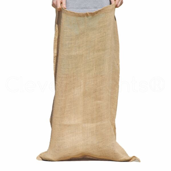 23quot; x 40quot; Premium Burlap Bag Heavy Duty Natural Jute Burlap Sack Race