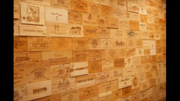 51 Assorted BRANDED WINE PANELS.  CRATE Box SIDE End Tops  Wood Diff. Sizes