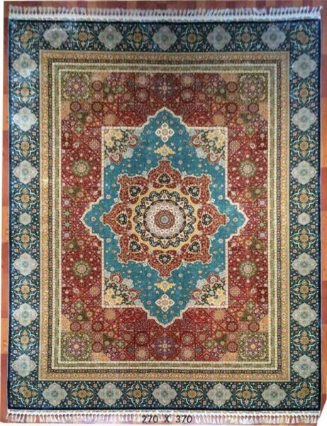 9' X 12' Red High End Premium Quality Handmade Silk Rug Rug