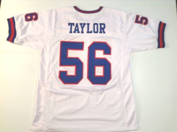UNSIGNED CUSTOM Sewn Stitched Lawrence Taylor White Jersey - M L XL 2XL