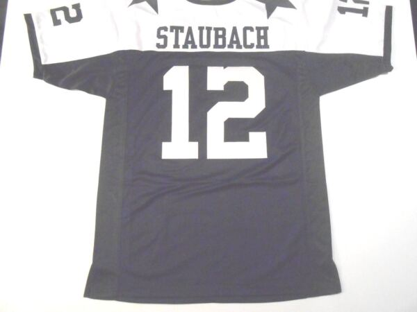 UNSIGNED CUSTOM Sewn Stitched Roger Staubach Thanksgiving Jersey - M L XL 2XL